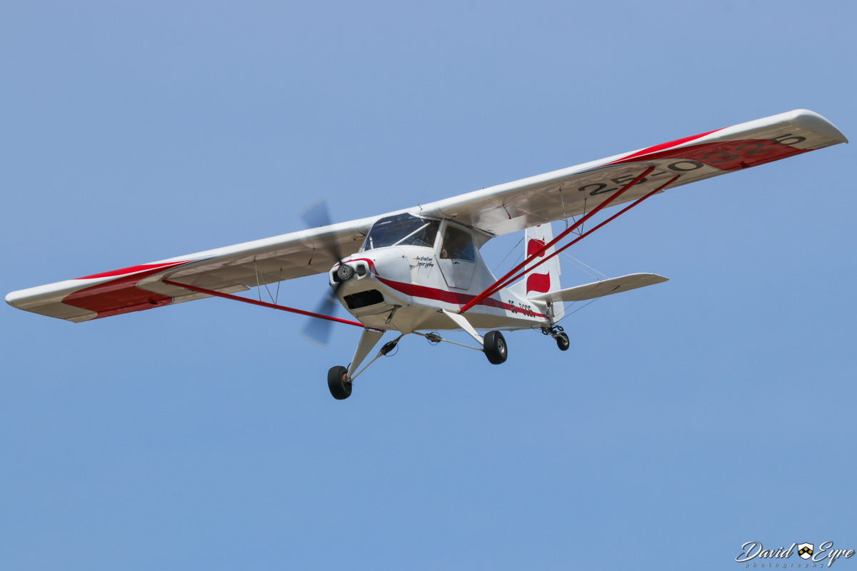 25-0325 Australian LightWing GR-582 (MSN 44) at Sport Aircraft Builders Club (SABC) Annual Fly-In, Serpentine Airfield - 5 November 2017. Photo © David Eyre. Originally designed and built by Hughes Engineering, a boat building and general engineering company, at West Ballina, NSW. Registered on 16 August 1989.