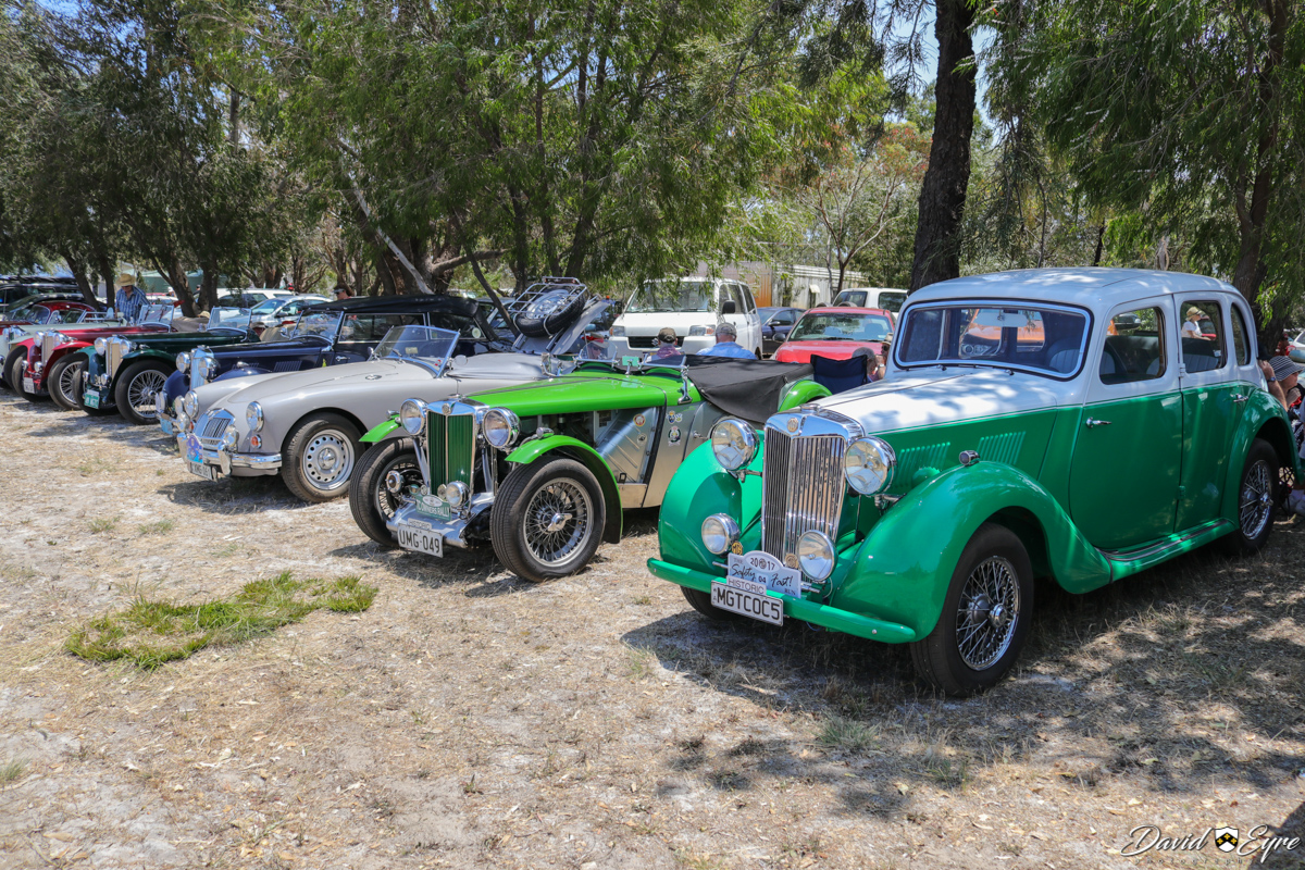 A range of MG cars from members of the MG Car Club, at the Sport Aircraft Builders Club (SABC) Annual Fly-In, Serpentine Airfield - 5 November 2017. Photo © David Eyre.