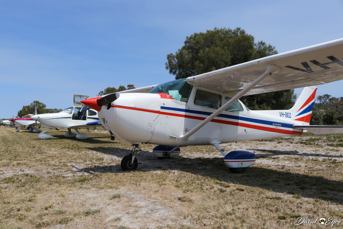 Aircraft lined up at at Sport Aircraft Builders Club (SABC) Annual Fly-In, Serpentine Airfield - 5 November 2017. Photo © David Eyre. Nearest aircraft is VH-BEZ Cessna 172N Skyhawk II (MSN 17268583) owned by Air Australia International - built in 1977, ex (N733VM not taken up), N1900C.