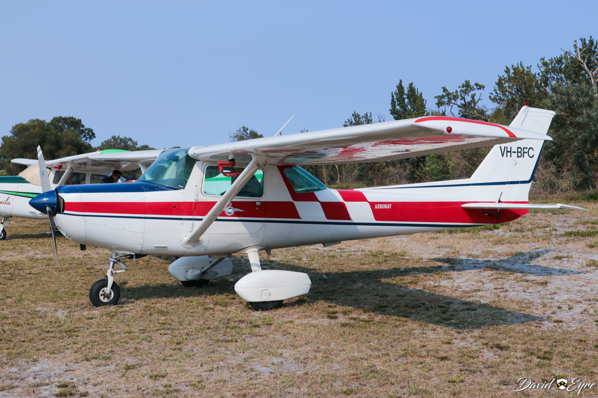 VH-BFC Cessna A152 Aerobat (MSN A1520794) owned by Peter R Hill, at the Sport Aircraft Builders Club (SABC) Annual Fly-In, Serpentine Airfield - 5 November 2017. Photo © David Eyre. Previously owned by the Royal Aero Club of Western Australia. Built in 1978, ex N7375L.