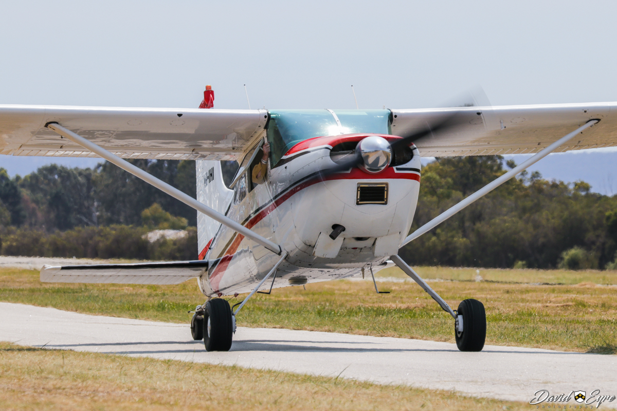 VH-IHI Cessna 185D Skywagon (MSN 1850908) operated by Jan Ende, at the Sport Aircraft Builders Club (SABC) Annual Fly-In, Serpentine Airfield - 5 November 2017. Photo © David Eyre. Built in 1965, ex N1547F, DQ-FDA.