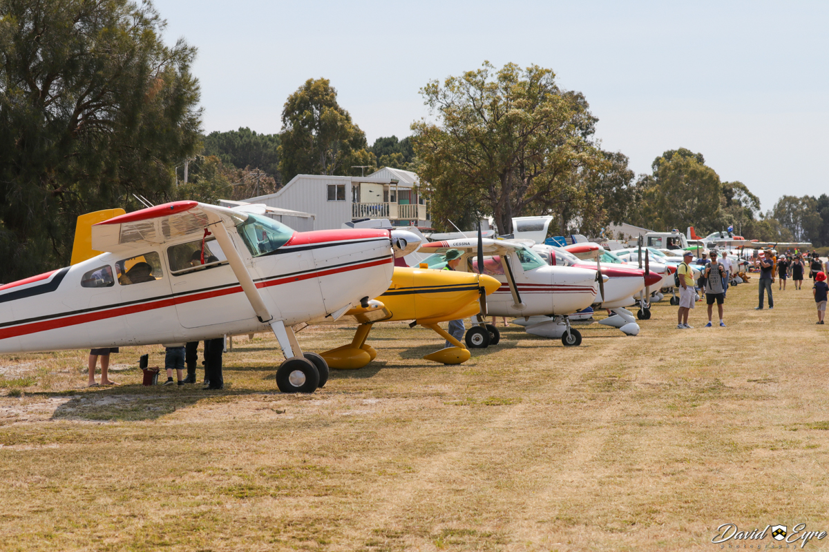 Aircraft lined up at the Sport Aircraft Builders Club (SABC) Annual Fly-In, Serpentine Airfield - 5 November 2017. Photo © David Eyre.