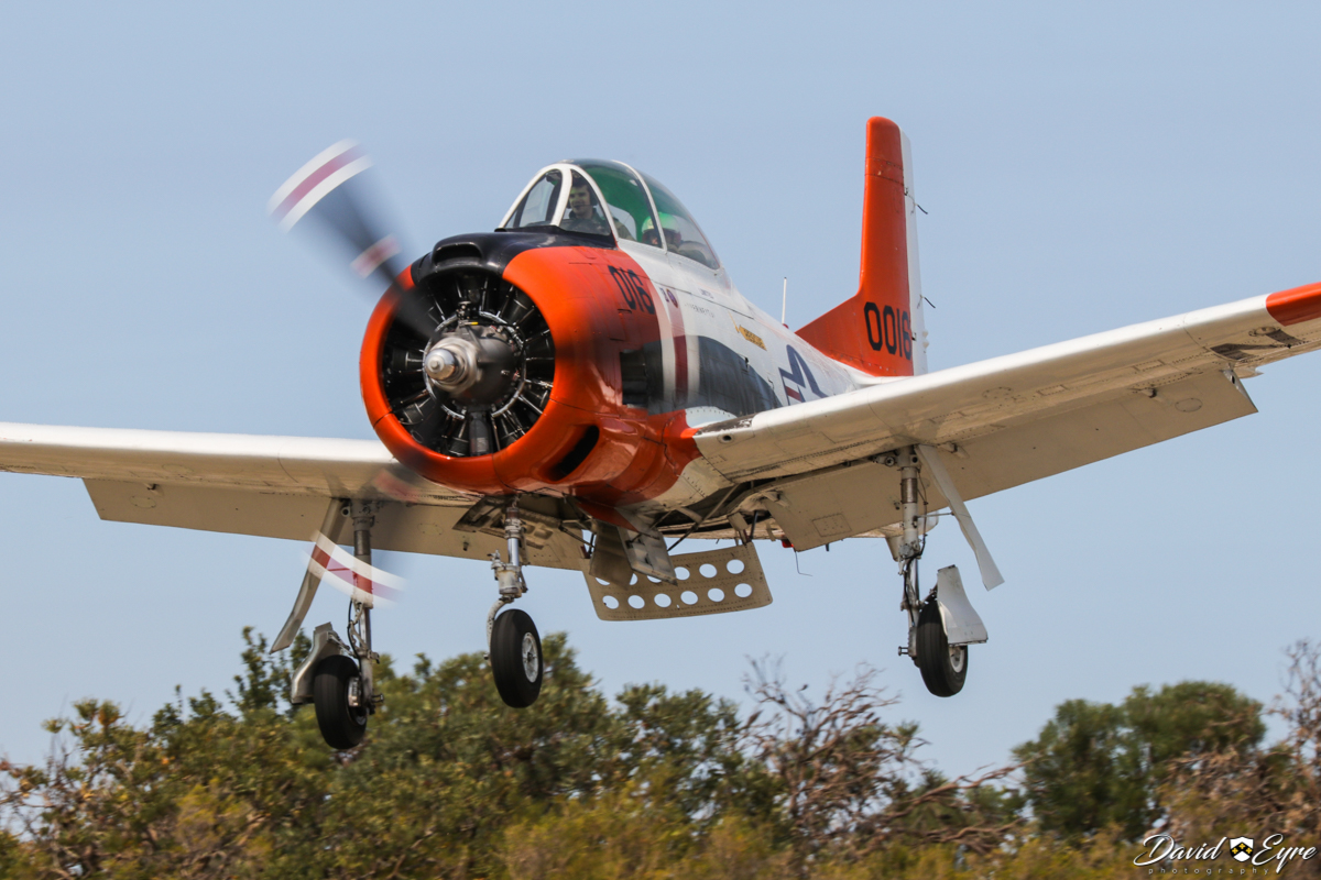 VH-KAN / 140016 North American T-28B Trojan (MSN 219-15) operated by AOG Services Pty Ltd, at the Sport Aircraft Builders Club (SABC) Annual Fly-In, Serpentine Airfield - 5 November 2017. Photo © David Eyre. Built in 1955, ex 140016 (US Navy), N46984. Last served with US Navy training squadron VT-27, until April 1983. VT-27 was the last US Navy T-28 squadron. In April 1984, 140016 was added to US civil aircraft register as N46984, registered to Dennis M Sherman, West Palm Beach, Florida. Registered VH-KAN on 19 February 2014. Based at Jandakot.