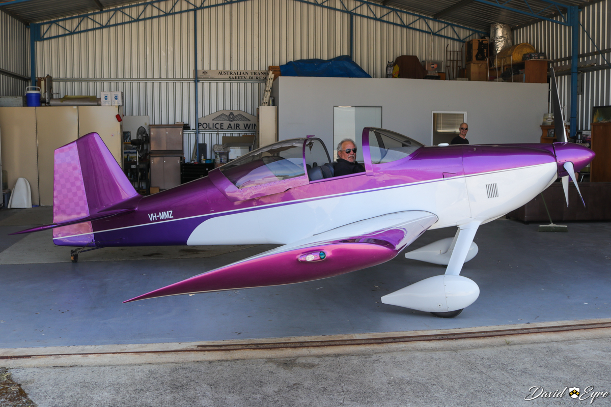 VH-MMZ Vans RV-6 (MSN 22957/W209) owned by Milan Zaklan (sitting in the cockpit), at at Sport Aircraft Builders Club (SABC) Annual Fly-In, Serpentine Airfield - 5 November 2017. Photo © David Eyre.