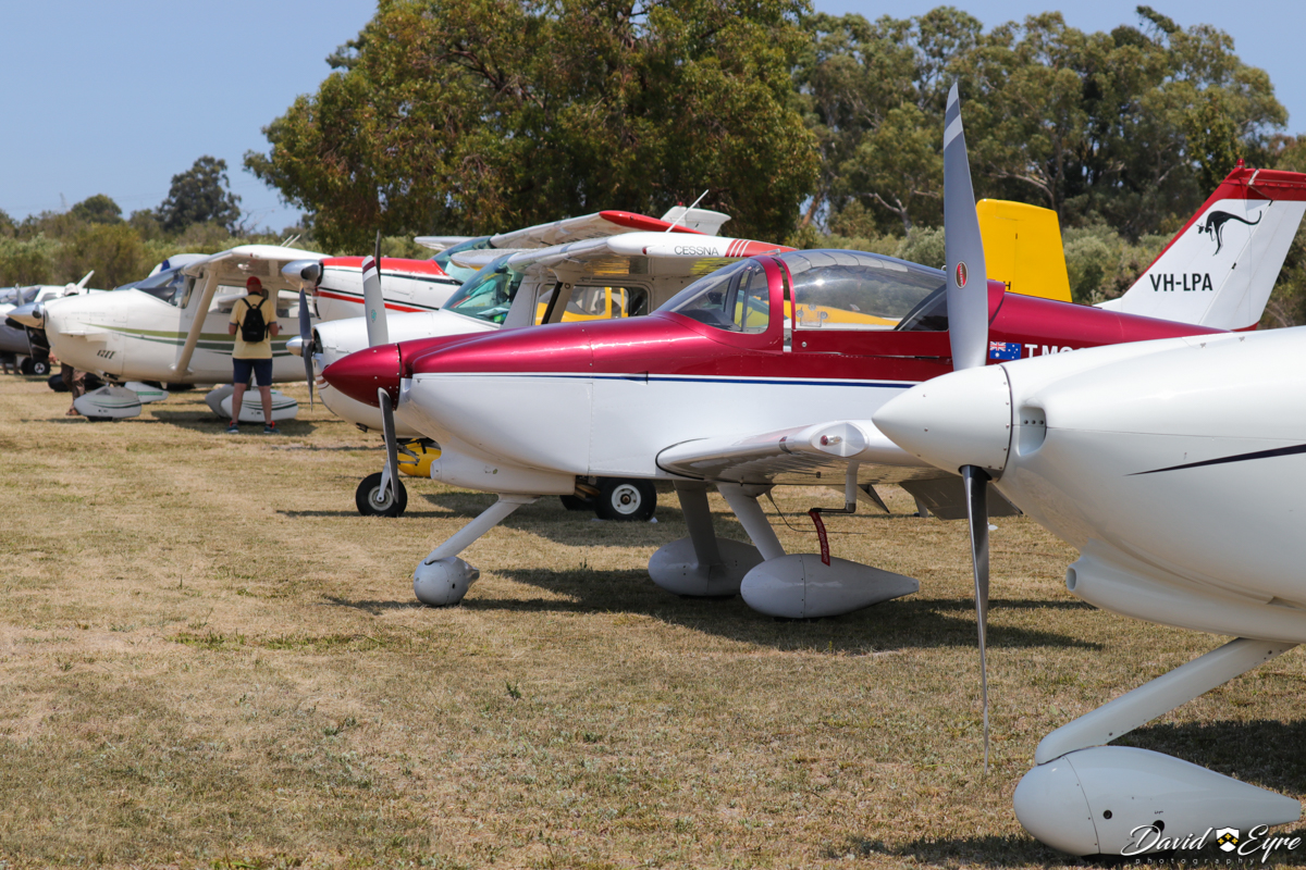 Aircraft lined up at at Sport Aircraft Builders Club (SABC) Annual Fly-In, Serpentine Airfield - 5 November 2017. Photo © David Eyre.
