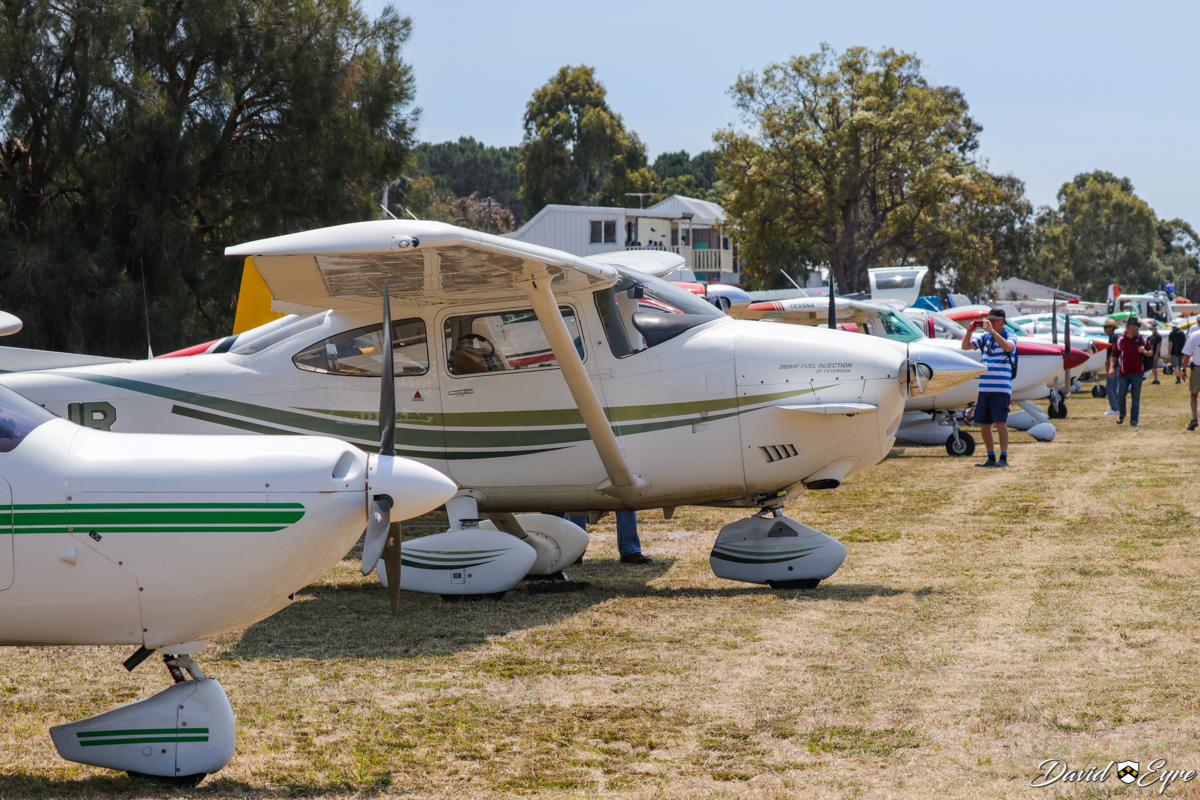 Aircraft lined up at Sport Aircraft Builders Club (SABC) Annual Fly-In, Serpentine Airfield - 5 November 2017. Photo © David Eyre.