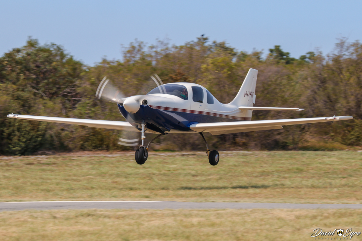 VH-YFM Neico Lancair IV (MSN LIV-160) owned by Frederick E Moreno/Nullaki Air Pty Ltd, of Denmark, WA, at Sport Aircraft Builders Club (SABC) Annual Fly-In, Serpentine Airfield - 5 November 2017. Photo © David Eyre. Fred Moreno began building this aircraft from a kit in California, starting in the early 1990s. It was 50% complete when he retired, left California and moved to Denmark in Western Australia during 2001. The aircraft was completed in 2008 and since then has travelled all over Australia and NZ. In 2015, flying with Gary Burns, he set FAI speed records for Canberra/Christchurch and Sydney/Christchurch.