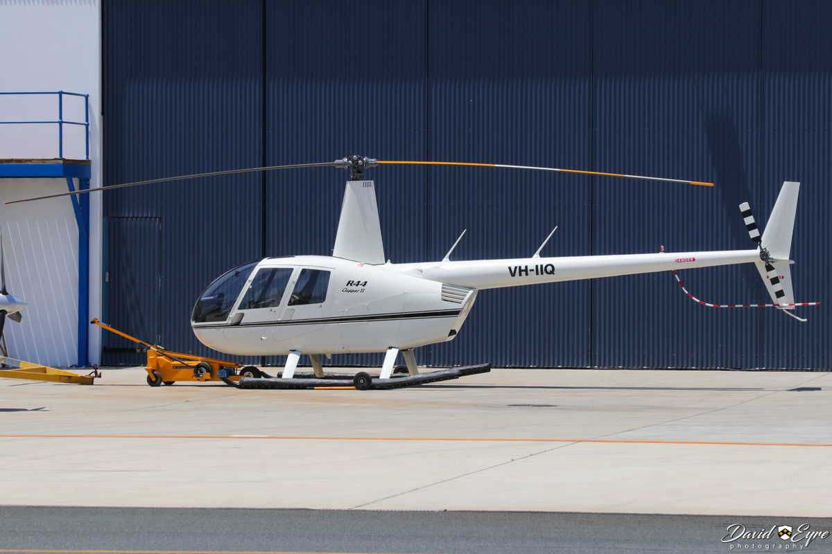 VH-IIQ Robinson R44 Clipper II (MSN 10747) operated by Corsaire Aviation (owned by Helicopters Australia Holdings Pty Ltd), at Jandakot Airport - 12 November 2017. Photo © David Eyre. Built in 2005, ex ZK-IID, VH-HLP, N74544.